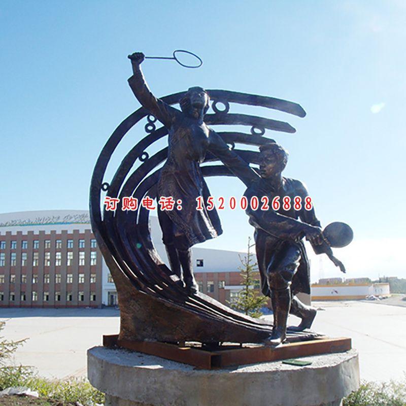 运动铜雕,广场运动铜雕塑