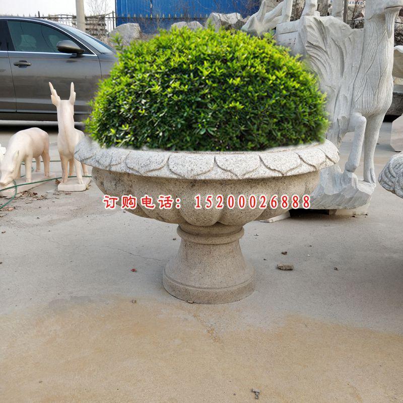 大理石花盆 石雕公园景观雕塑 (1)