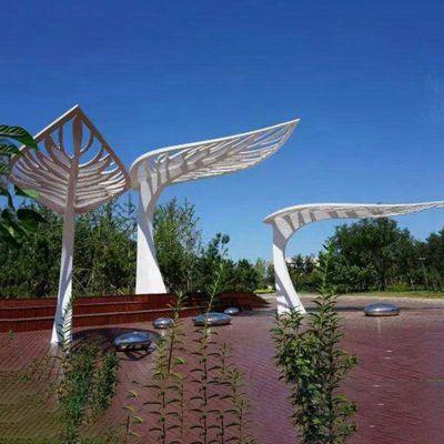 不锈钢荷叶   小区景观雕塑