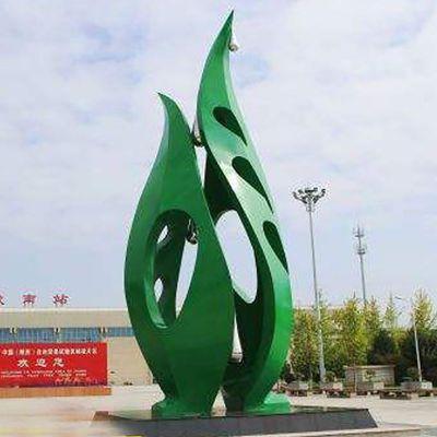 不锈钢树叶雕塑   广场景观雕塑