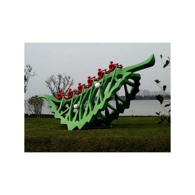 不锈钢树叶雕塑 公园树叶不锈钢雕塑