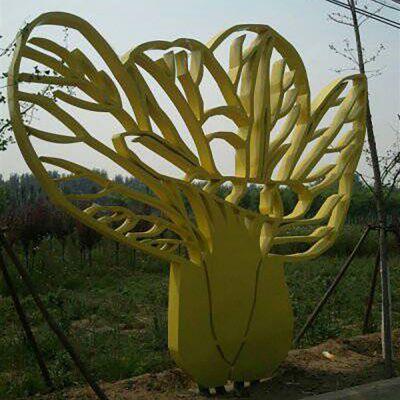 不锈钢玉米雕塑,公园玉米不锈钢雕塑
