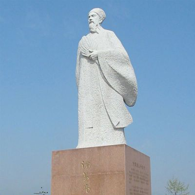 诸葛亮石雕,广场三国人物石雕