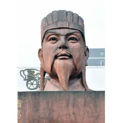 诸葛亮头像石雕,三国人物石雕