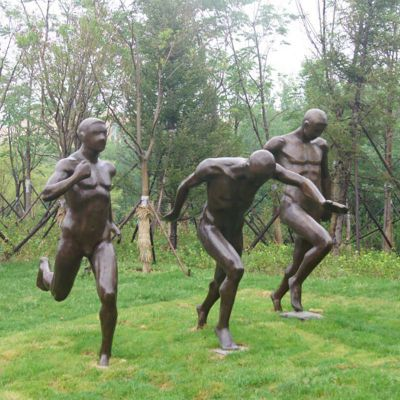 赛跑铜雕,公园人物铜雕,景观铜雕