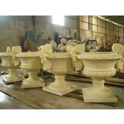 石雕花盆,别墅花盆雕塑