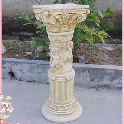 石雕花盆雕塑  小区景观雕塑