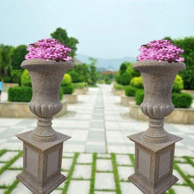 大理石花钵  石雕小区景观雕塑