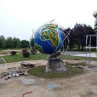 玻璃钢地球仪雕塑 (1)