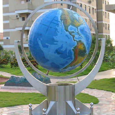 玻璃钢地球仪雕塑 (2)