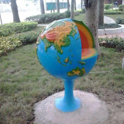 玻璃钢地球仪雕塑 (3)