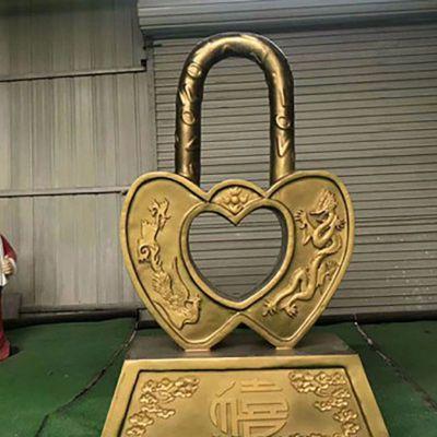 玻璃钢同心锁雕塑 (3)