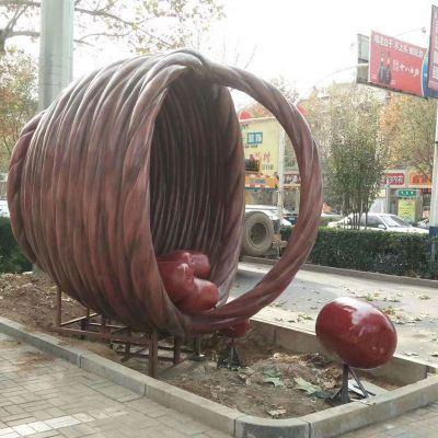 玻璃钢枣雕塑 (1)
