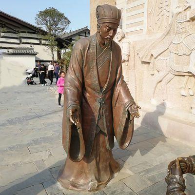 诸葛亮铜雕 (2)
