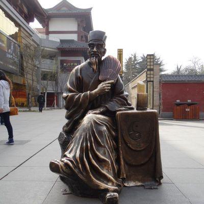 诸葛亮铜雕 (4)