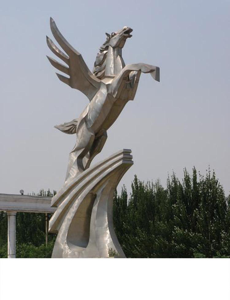 飞马雕塑,广场不锈钢马雕塑
