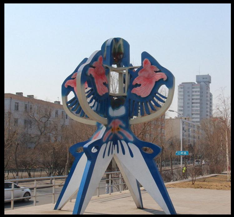 不锈钢风筝雕塑,公园景观不锈钢雕塑