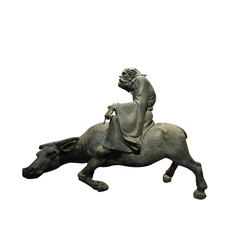 不锈钢骑牛人物 广场人物雕塑 (2)