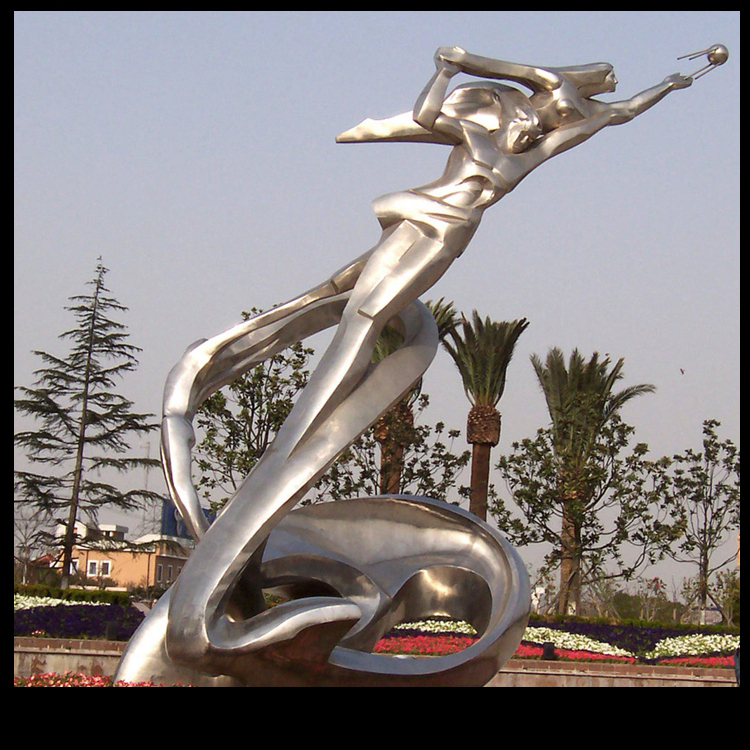 不锈钢奔腾 广场景观雕塑