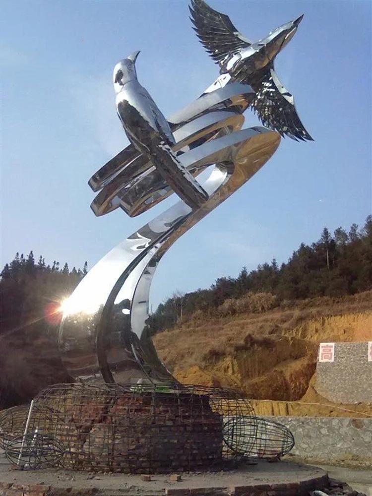 不锈钢翱翔雕塑,景观不锈钢雕塑