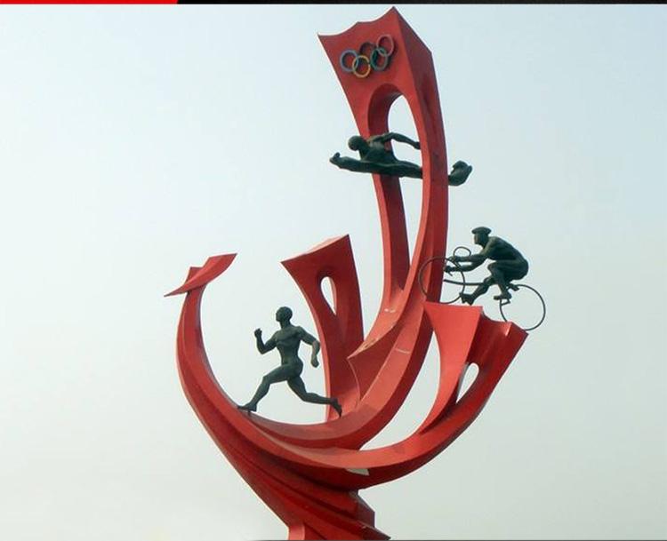 不锈钢奥运海浪 广场景观雕塑 (1)