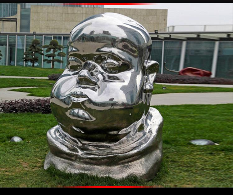 不锈钢镜面抽象人物 广场人物雕塑 (2)