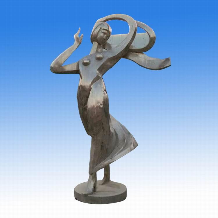 不锈钢跳舞美女 广场人物雕塑