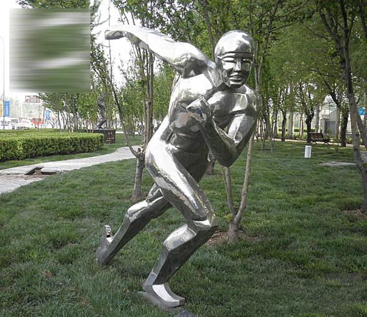 滑冰人物雕塑,不锈钢公园人物雕塑