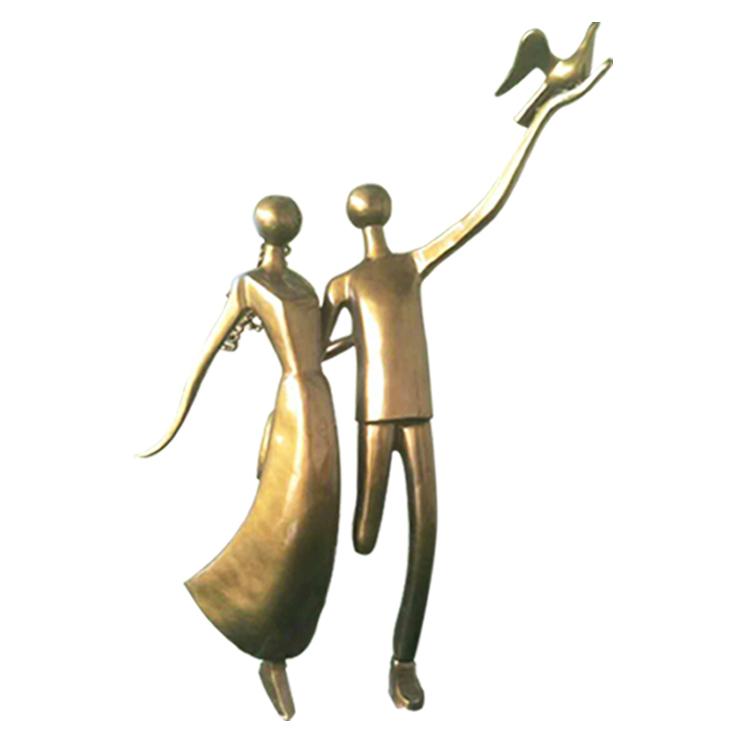 不锈钢情侣 广场人物雕塑