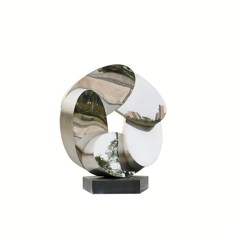 不锈钢花环抽象 公园景观雕塑