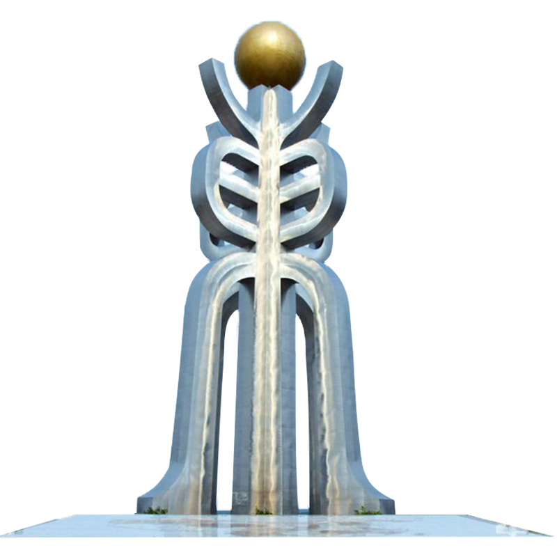 不锈钢皇冠 公园景观雕塑 (1)