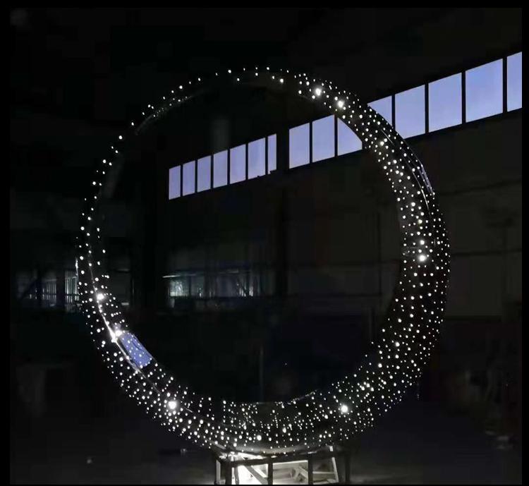 不锈钢镂空球 城市景观雕塑