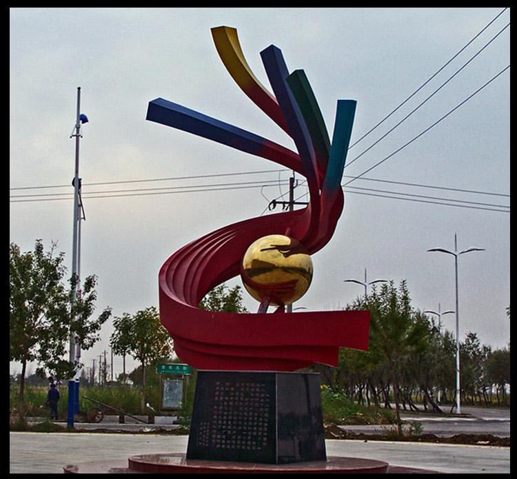 不锈钢抽象景观雕塑,广场景观不锈钢