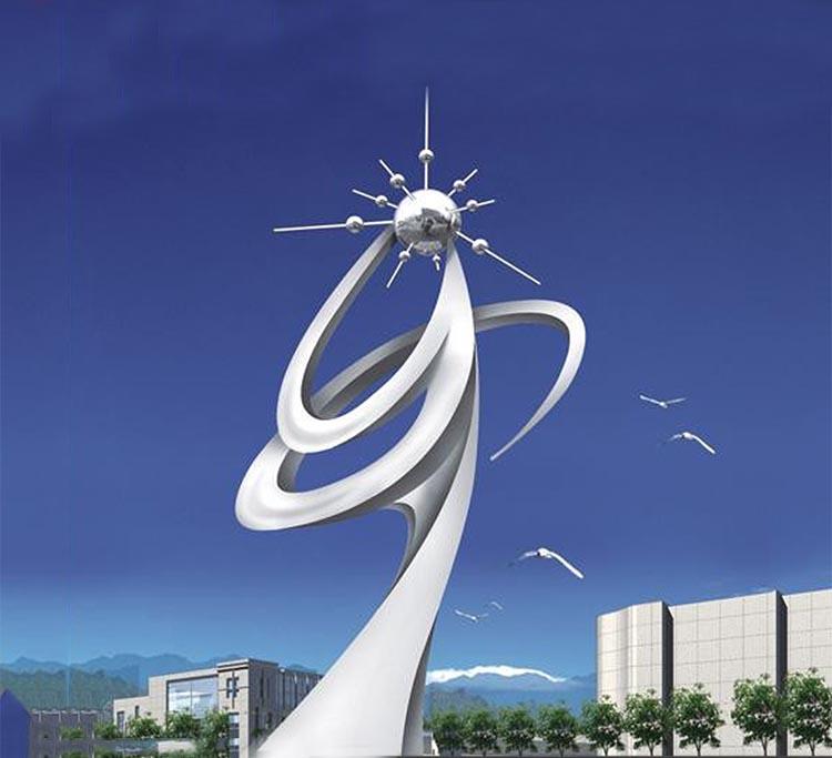 创意抽象人物公园景观雕塑,不锈钢雕塑