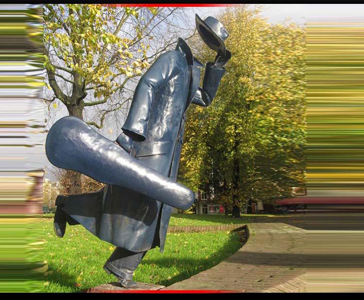 不锈钢旅行者 广场人物雕塑 (2)