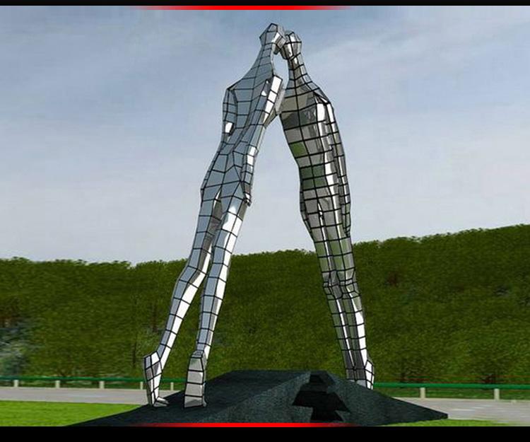 不锈钢情侣人物 公园景观雕塑