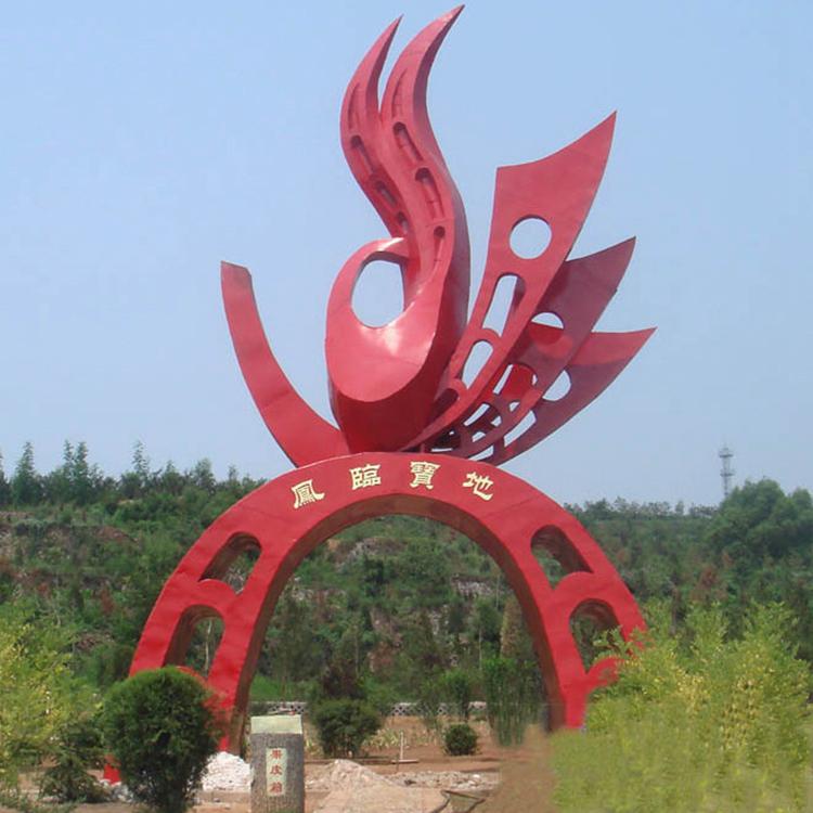 不锈钢抽象凤凰雕塑,景观不锈钢雕塑_wps图片