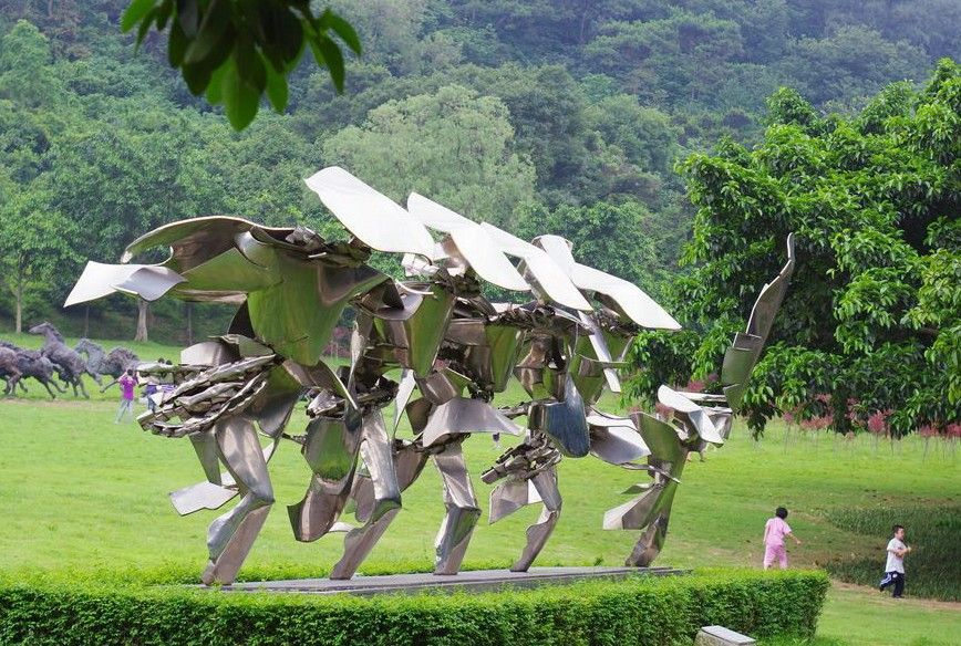 丰收的喜悦雕塑,不锈钢人物雕塑_wps图片