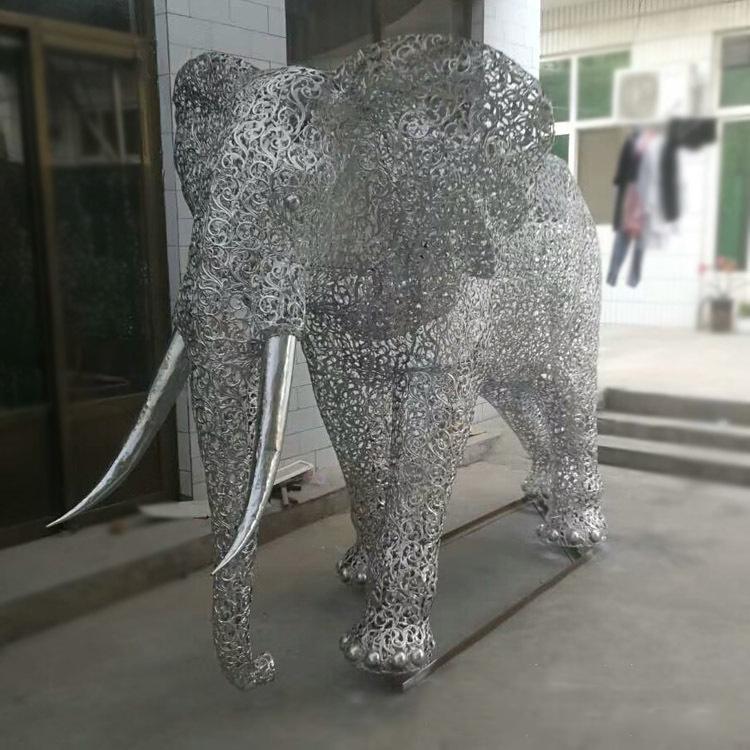 不锈钢城市大象雕塑