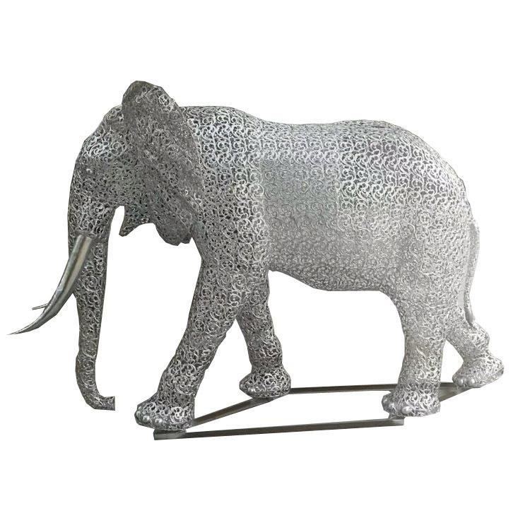 不锈钢吉祥大象雕塑