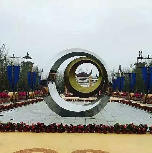 不锈钢广场抽象景观雕塑
