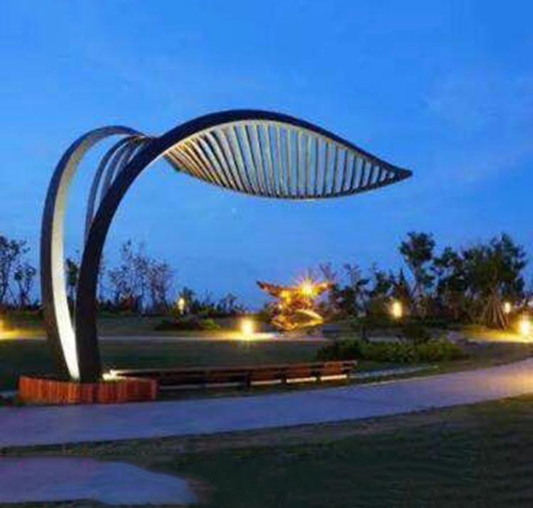 不锈钢树叶景观装饰雕塑