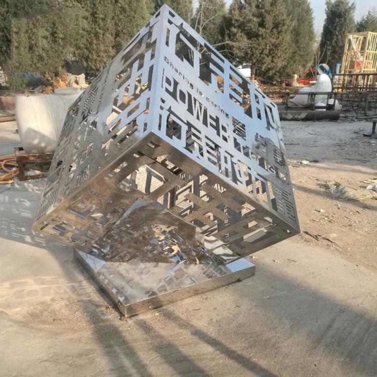 不锈钢力量侧面雕塑