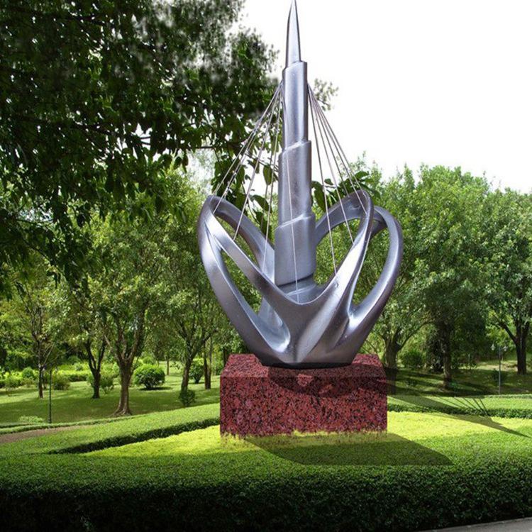 不锈钢抽象创意雕塑