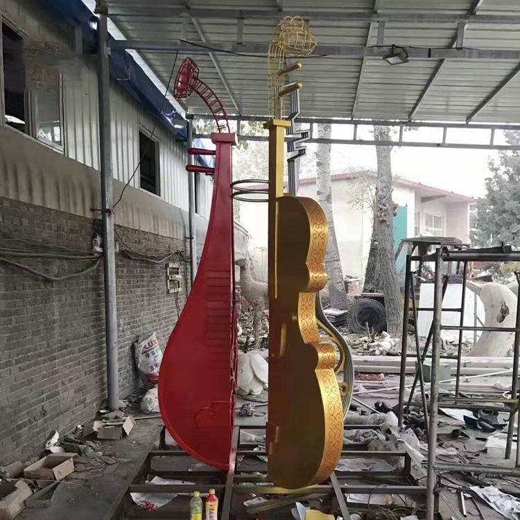 不锈钢彩绘金属小提琴