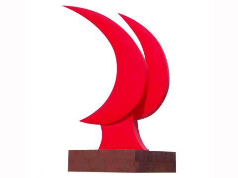 不锈钢月亮党建雕塑