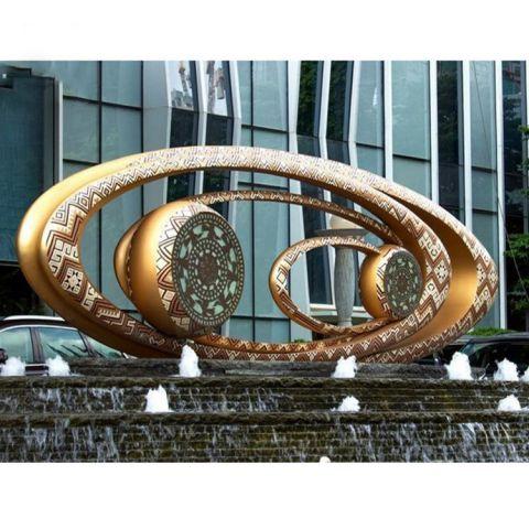 不锈钢空心喷泉景观雕塑