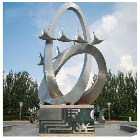 不锈钢飞鸽景观雕塑