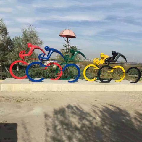 不锈钢人物运动雕塑