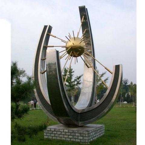 不锈钢太阳之星景观雕塑